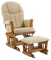 Shermag Danielle Deluxe Sleigh Style Rocker Glider and Ottoman Combo