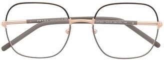 Prada Oval Wire-Frame Optical Glasses