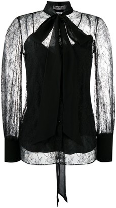 Givenchy Pussy Bow Lace Blouse