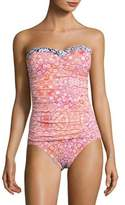 Tommy Bahama Shirred One-Piece Swimsuit