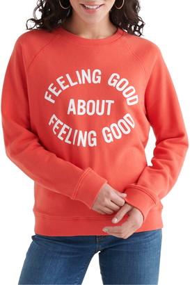 Lucky Brand Feeling Good Graphic Cotton Sweatshirt