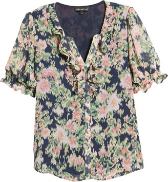 Gibson Floral Ruffle Top