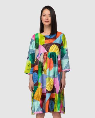 gorman Colour Drop Linen Dress