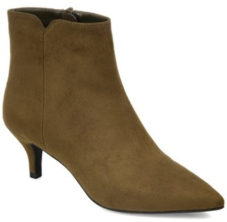 Brinley Co. Womens Pointed Toe Heeled Bootie