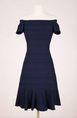 Rebecca Taylor ReCollect Off-The-Shoulder Textured Dress
