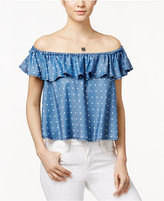 Velvet Heart Tay Ruffled Off-The-Shoulder Polka-Dot Top