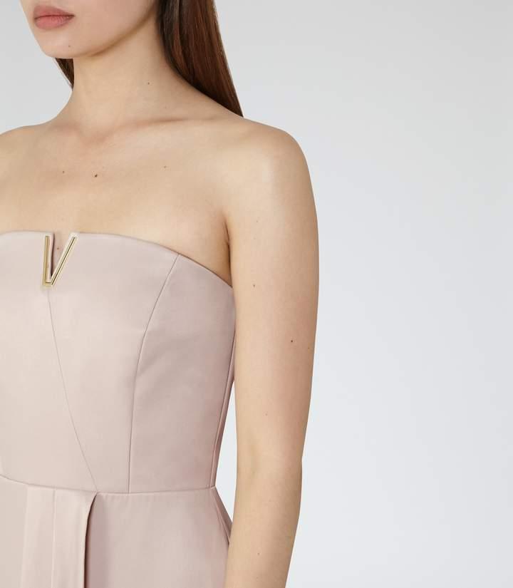 Reiss Zosia Strapless Wrap-Front Maxi Dress