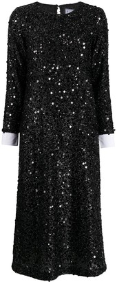 In The Mood For Love Sequin Shirt Dress