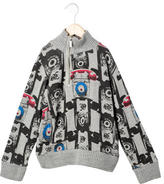 John Galliano Boys' Graphic Print Pullover Sweater