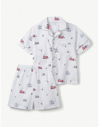 The Little White Company London Shortie cotton pyjamas 1-12 years