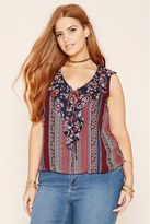 Forever 21 FOREVER 21+ Plus Size Ornate Print Top