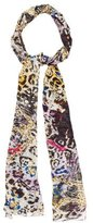 Jimmy Choo Silk Printed Scarf
