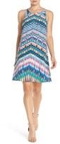 Charlie Jade Strappy Back Print Silk A-Line Dress