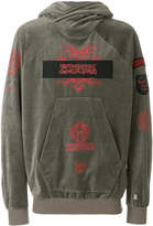 Niløs graphic patch hoodie