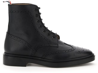 Thom Browne Brogue Lace-Up Ankle Boots
