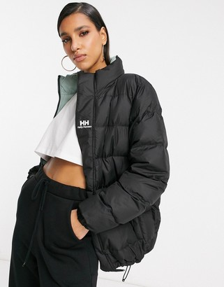 Helly Hansen Yu reversible puffer jacket in black