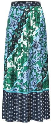Erdem Nolana floral satin-jacquard skirt