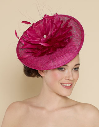 Accessorize Ascot Statement Feather Flower Disc