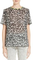Marc Jacobs Leopard Print Cotton Tee
