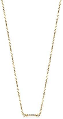 Tiffany & Co. Fleur de Lis key bar pendant in 18k gold with diamonds