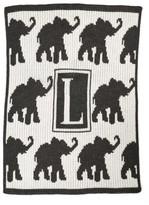 Butterscotch Blankees 'Walking Elephants - Small' Personalized Blanket