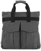 Topman Gray Textured Holdall Backpack