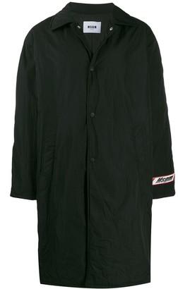 MSGM Oversized Logo Raincoat
