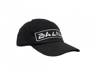 Balmain Black Cotton Hats & pull on hats