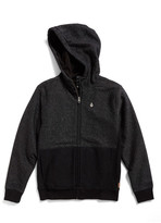 Volcom Static Stone Full Zip Hoodie (Big Boys)