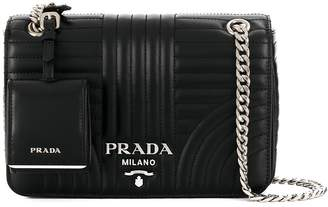Prada leather tag detail quilted bag
