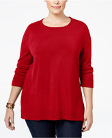 Karen Scott Plus Size Luxsoft Scoop-Neck Sweater, Only at Macy's