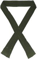 Maison Margiela ribbed skinny scarf