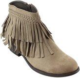 Refresh AD41 Women's Fringe Side Zipper Block Heel Ankle Booties, Color:, Size:7
