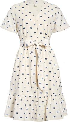 Caslon Clip Dot Shirtdress