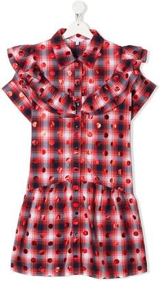 Little Marc Jacobs TEEN check shirt dress