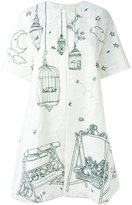 Dolce & Gabbana Garden print brocade coat - women - Silk/Cotton/Polyester/Viscose - 46