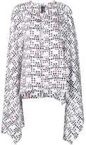 Thomas Wylde 'Smoke' cape blouse