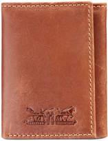 Levi's Men's Embossed Rfid Leather Tri-Fold Wallet