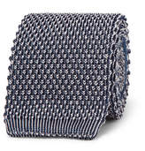 Etro 6cm Knitted Silk and Jacquard Tie