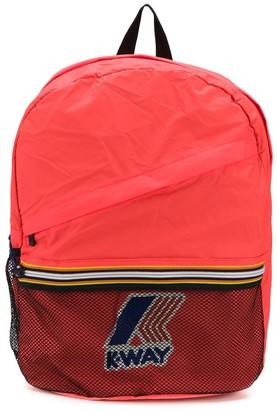 K Way Kids Multi-Pocket Logo Backpack