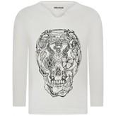 Zadig & Voltaire Zadig & VoltaireBoys Ivory Skull Print Top