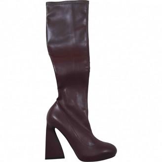 Stella McCartney Stella Mc Cartney Burgundy Leather Boots