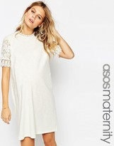 Asos Shift Dress with Short Lace Sleeve