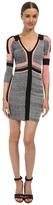 Just Cavalli 3/4 Sleeve Colorblock Slim Dress