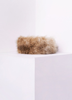 Missy Empire Delia Beige Faux Fur Headband