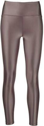 Filippa K Soft Sport Glossy-Effect Cropped Leggings