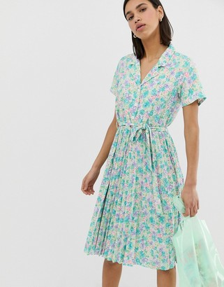 Résumé Resume Mitzie retro pleat skirt tea dress