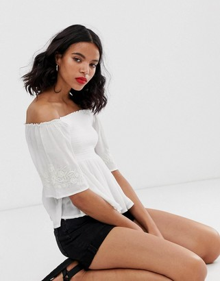 Only fluted sleeve smock top