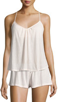 Eberjey Baxter Waffle-Knit Camisole, Pearl Pink