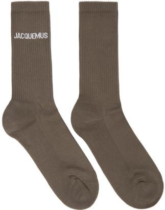 Jacquemus Brown Les Chaussettes Jacques Socks